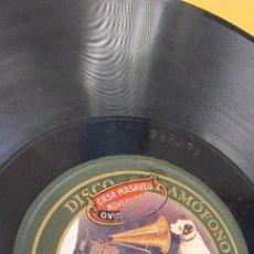 Discos de pizarra: DISCO 78 RPM - ÁNGEL GONZÁLEZ / CLAVEROL - GAITA - ASTURIAS - VAQUEIRAS / A LES ENDECHES - PIZARRA. Lote 271011093