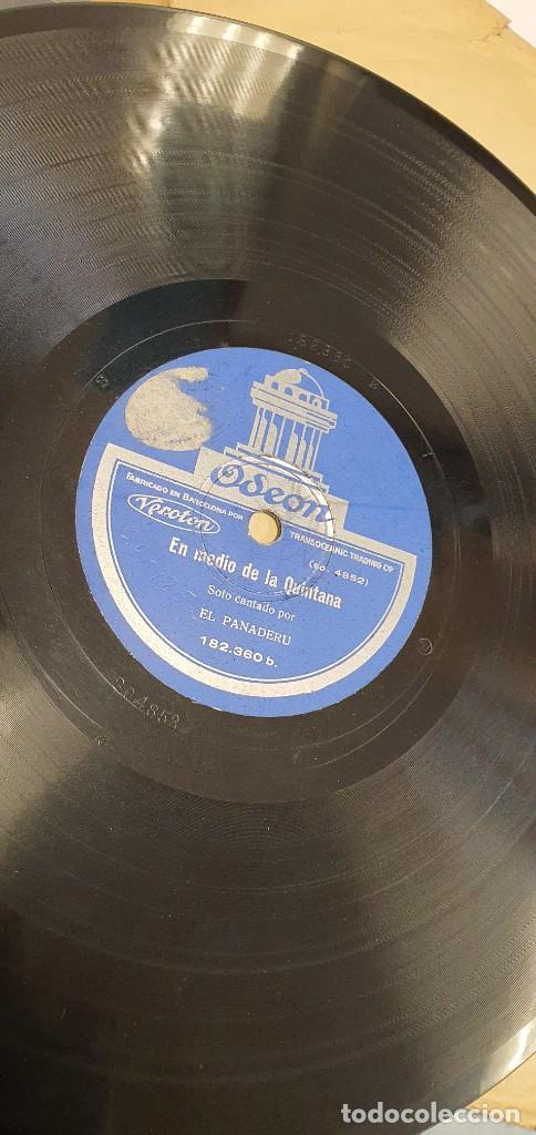 DISCO 78 RPM - EL PANADERU - ASTURIAS - EN MEDIO DE LA QUINTANA / A LA SALIDA DEL SELLA - PIZARRA (Música - Discos - Pizarra - Otros estilos)