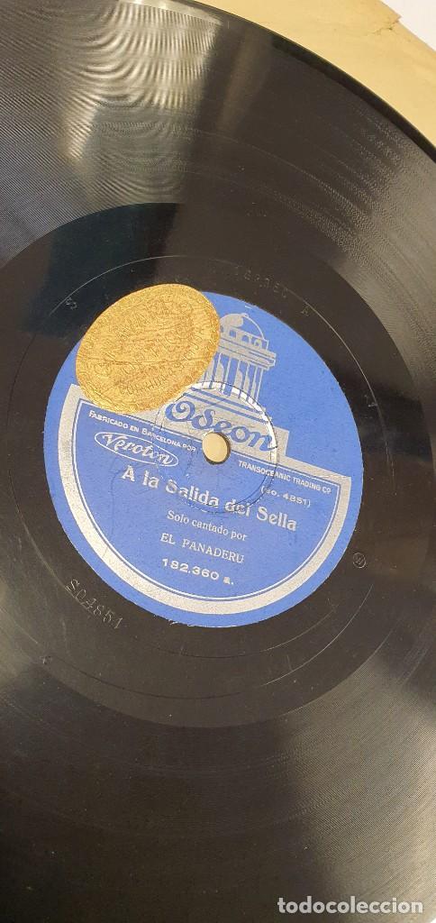 Discos de pizarra: DISCO 78 RPM - EL PANADERU - ASTURIAS - EN MEDIO DE LA QUINTANA / A LA SALIDA DEL SELLA - PIZARRA - Foto 2 - 271014008
