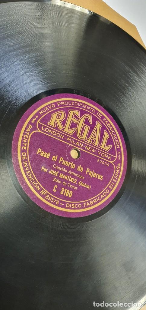 DISCO 78 RPM - JOSÉ MARTÍNEZ BOTÓN - ASTURIAS - PASÉ EL PUERTO DE PAJARES / TENGO DE SUBIR - PIZARRA (Música - Discos - Pizarra - Otros estilos)