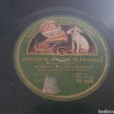 Discos de pizarra: 78 RPM REGIONAL ASTURIANO. Lote 272092478