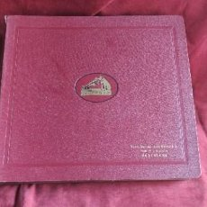 Discos de pizarra: ALBUM DISCOS DE PIZARRA 30 CM. HIS MASTER VOICE, IMPECABLES, ALBUM Y DISCOS. Lote 273121018