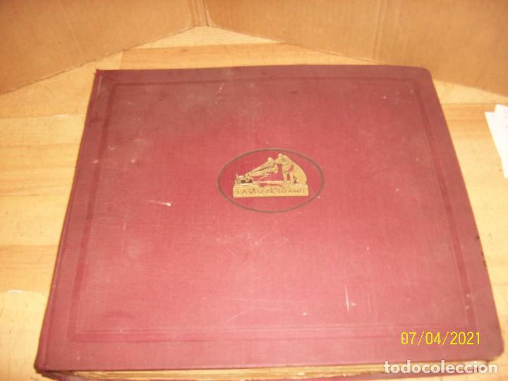 Discos de pizarra: OFERTA- 12 LP DE PIZARRA EN UN ALBUM DE LA VOZ DE SU AMO- VER CANTANTES Y CANCIONES - Foto 3 - 273471488