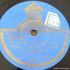 Discos de pizarra: DISCO DE PIZARRA JOTAS ARAGONESAS, JOSE OTO, PARA CANTAR QUIERE GRACIA, PATRIA Y VIRGEN ES MI LEMA,. Lote 273504753