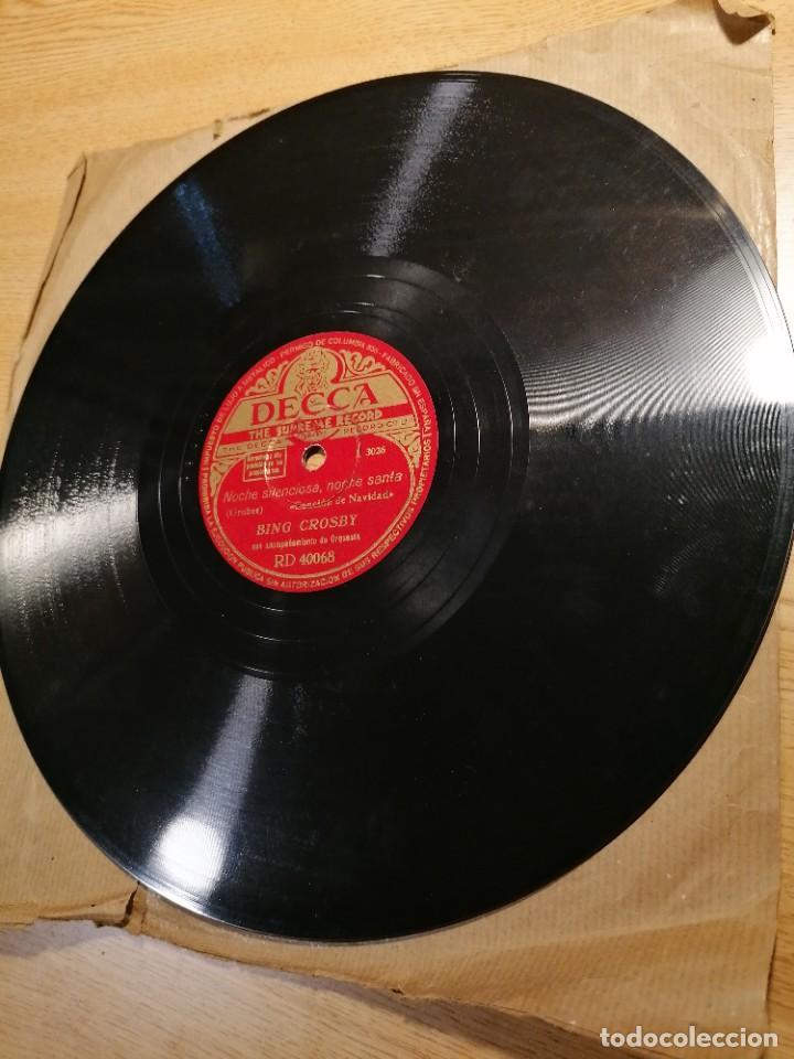Discos de pizarra: Disco de pizarra Bing Crosby Decca Adeste Fidelis y noche silenciosa. Rd 40068 - Foto 2 - 274191928
