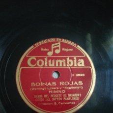 Discos de pizarra: 2 DISCOS DE 78RPM HIMNO REQUETÉ DE NAVARRA. Lote 274634818