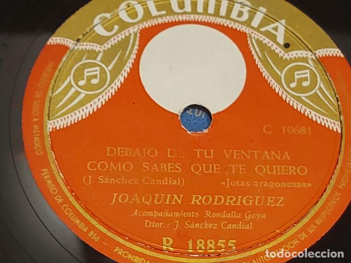 Discos de pizarra: PIZARRA !! MERCEDES CARTIEL Y JOAQUÍN RODRIGUEZ / JOTAS / LEER - Foto 2 - 274844503