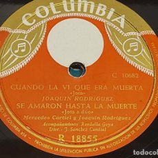 Discos de pizarra: PIZARRA !! MERCEDES CARTIEL Y JOAQUÍN RODRIGUEZ / JOTAS / LEER. Lote 295905533