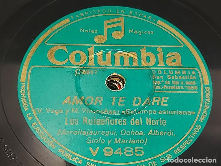 Discos de pizarra: PIZARRA !! LOS RUISEÑORES DEL NORTE / LA SEQUIA - AMOR TE DARÉ / COLUMBIA / LEER - Foto 2 - 274854813