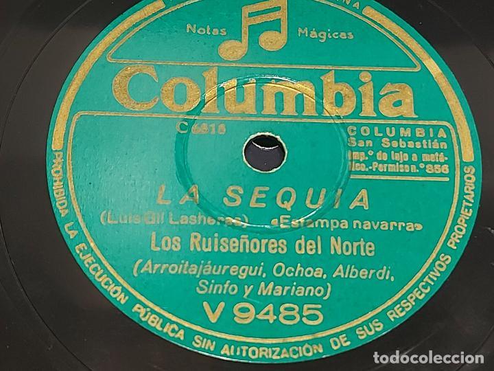PIZARRA !! LOS RUISEÑORES DEL NORTE / LA SEQUIA - AMOR TE DARÉ / COLUMBIA / LEER (Música - Discos - Pizarra - Solistas Melódicos y Bailables)