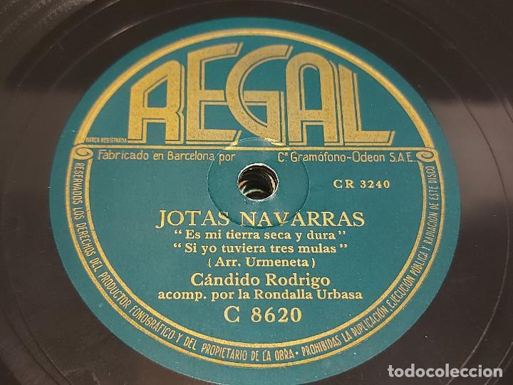 Discos de pizarra: PIZARRA !! CÁNDIDO RODRIGO / JOTAS NAVARRAS / REGAL / LEER - Foto 2 - 274859913