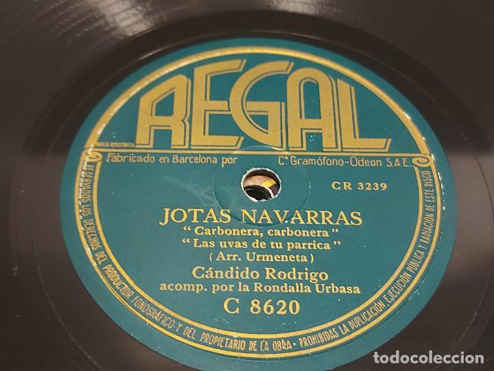 PIZARRA !! CÁNDIDO RODRIGO / JOTAS NAVARRAS / REGAL / LEER (Música - Discos - Pizarra - Solistas Melódicos y Bailables)