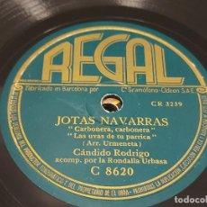 Discos de pizarra: PIZARRA !! CÁNDIDO RODRIGO / JOTAS NAVARRAS / REGAL / LEER. Lote 274859913