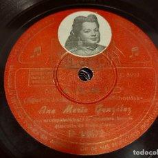 Discos de pizarra: PIZARRA !! ANA MARÍA GONZALEZ / MADRID - REVANCHA / COLUMBIA / LEER. Lote 274862373