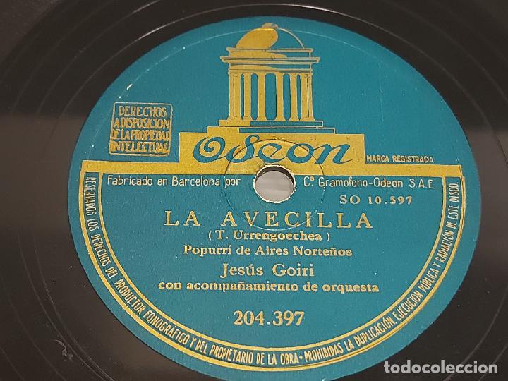 Discos de pizarra: PIZARRA !! JESÚS GOIRI / EL CRISTO DE LEZO - LA AVECILLA / ODEON / LEER - Foto 2 - 274863608
