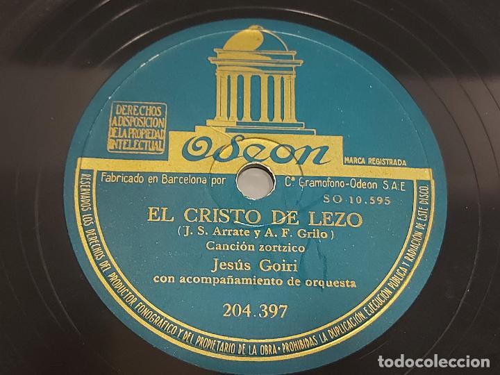 PIZARRA !! JESÚS GOIRI / EL CRISTO DE LEZO - LA AVECILLA / ODEON / LEER (Música - Discos - Pizarra - Otros estilos)