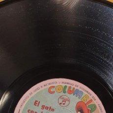 Discos de pizarra: DISCO 78 RPM - CUENTO INFANTIL - COLUMBIA - EL GATO CON BOTAS - PIZARRA. Lote 274878823