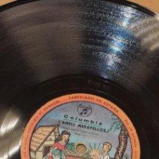 Discos de pizarra: DISCO 78 RPM - CUENTO INFANTIL - COLUMBIA - L'ANELL MERAVELLOS - PIZARRA. Lote 274879163