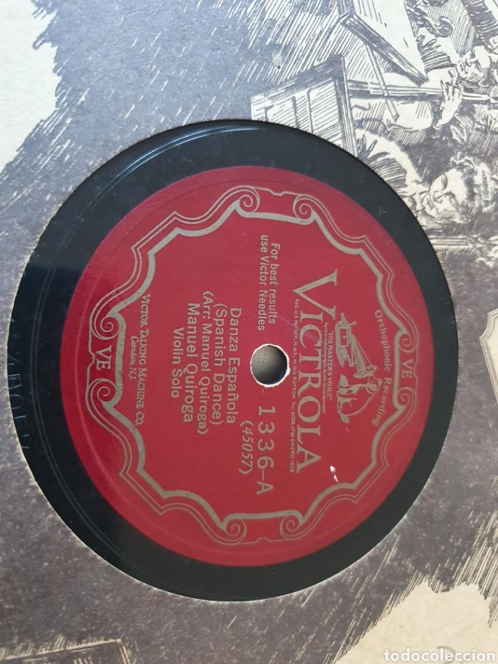 Discos de pizarra: 78 RPM VIOLIN MANUEL QUIROGA - Foto 2 - 275934713