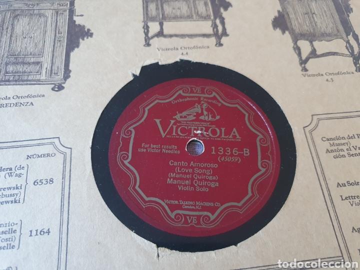 78 RPM VIOLIN MANUEL QUIROGA (Música - Discos - Pizarra - Flamenco, Canción española y Cuplé)