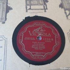 Discos de pizarra: 78 RPM VIOLIN MANUEL QUIROGA. Lote 275934713