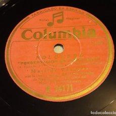 Discos de pizarra: PIZARRA.78 RPM. COLUMBIA R 14171. POLONESA. MATILDE VAZQUEZ / GRAN ORQUESTA DEL TEATRO FONTALVA. Lote 276108978
