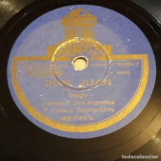 Discos de pizarra: PIZARRA. 78 RPM. ODEÓN 182798 A/B. ORQUESTA F. CANARO. DON JUAN - LA MOROCHA. Lote 276126243