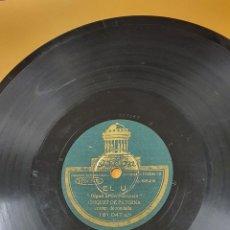Discos de pizarra: DISCO 78 RPM - CHIQUET DE PATERNA - ODEON - EL U Y EL DOS - CANTOS VALENCIANOS - PIZARRA. Lote 276565078