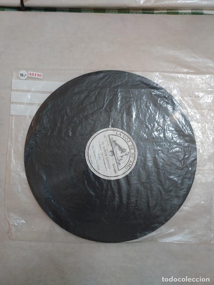 48190 - LA VOZ DE SU AMO- EL BARON GITANO (Música - Discos - Pizarra - Clásica, Ópera, Zarzuela y Marchas)