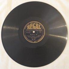 Discos de pizarra: PIZARRA 78 RPM. REGAL. RS 677. ORQUESTA CRIOLLA ARGENTINA DE E. BOHR. SOLO - OJOS QUE ME HACEN DAÑO. Lote 277076103