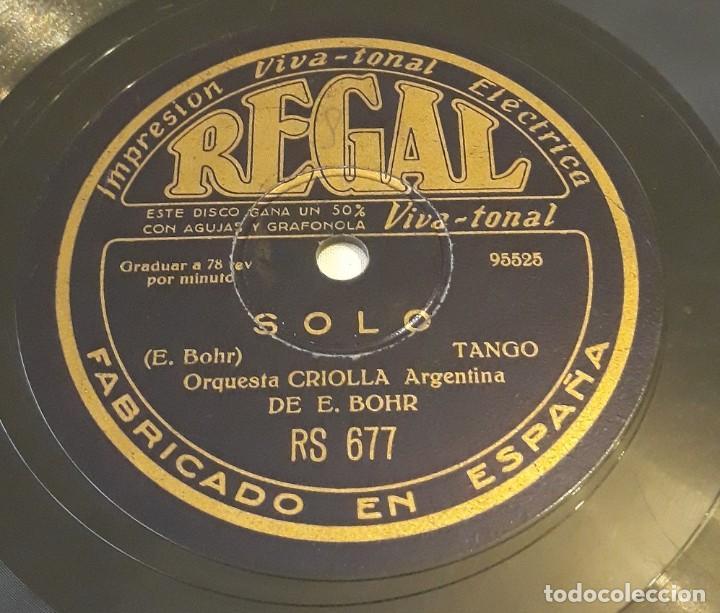 PIZARRA 78 RPM. REGAL. RS 677. ORQUESTA CRIOLLA ARGENTINA DE E. BOHR. SOLO - OJOS QUE ME HACEN DAÑO (Música - Discos - Pizarra - Solistas Melódicos y Bailables)