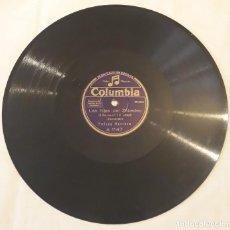 Discos de pizarra: PIZARRA.78 RPM. COLUMBIA A 1147. FELISA HERRERO / SELICA PEREZ CARPIO. CARCELERAS / LA TARÁNTULA. Lote 277079113