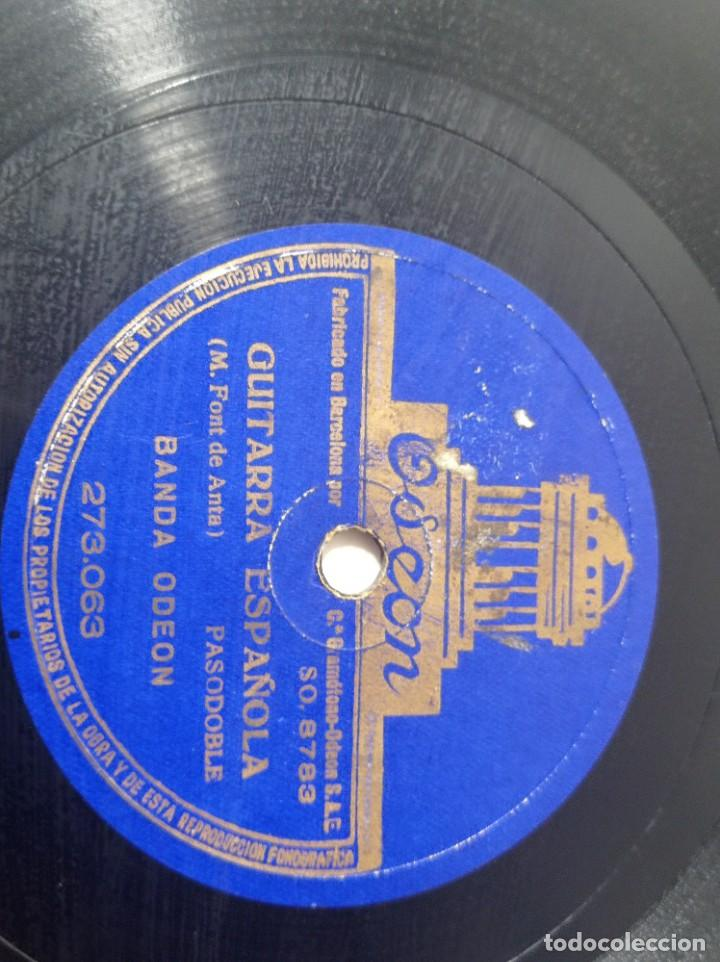 Discos de pizarra: disco gramófono Odeón pasodoble guitarra española original no copia. Ref.auto - Foto 3 - 277124508