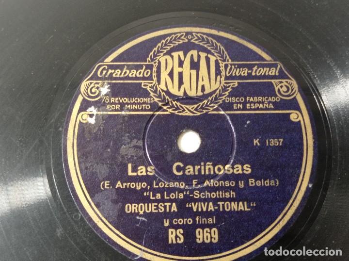DISCO GRAMÓFONO REGAL LAS CARIÑOSAS ORIGINAL NO COPIA. REF.AUTO (Música - Discos - Pizarra - Solistas Melódicos y Bailables)