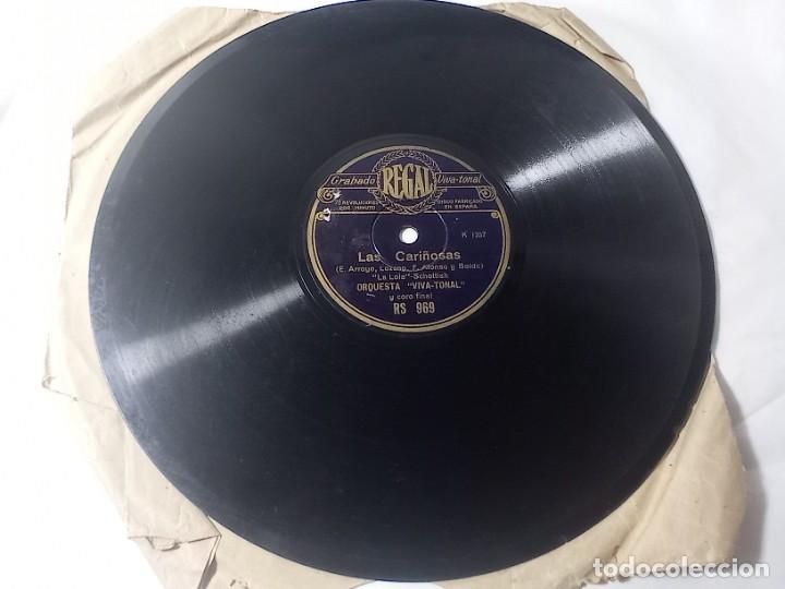 Discos de pizarra: disco gramófono regal las cariñosas original no copia. Ref.auto - Foto 2 - 277124888