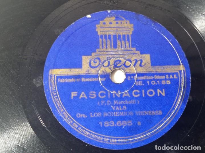 Discos de pizarra: Disco Odeón vals fascinacion original no copia. Ref.auto - Foto 3 - 277130243