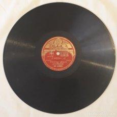 Discos de pizarra: PIZARRA. 78 RPM. DECCA. Nº CAT: DR 40002. STANLEY BLACK Y SU ORQUESTA. A MEDIA LUZ / CONDEÑA. Lote 277149818