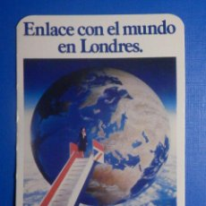 Discos de pizarra: CAJA METÁLICA GRANDE - BRITISH AIRWAYS - ENLACE CON EL MUNDO EN LONDRES 1983. Lote 277289143