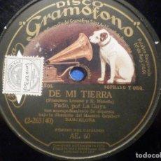 Discos de pizarra: DISCO DE PIZARRA - LA GOYA - LA CHULA TANGUISTA - DE MI TIERRA - LA VOZ DE SU AMO AE60. Lote 277290543