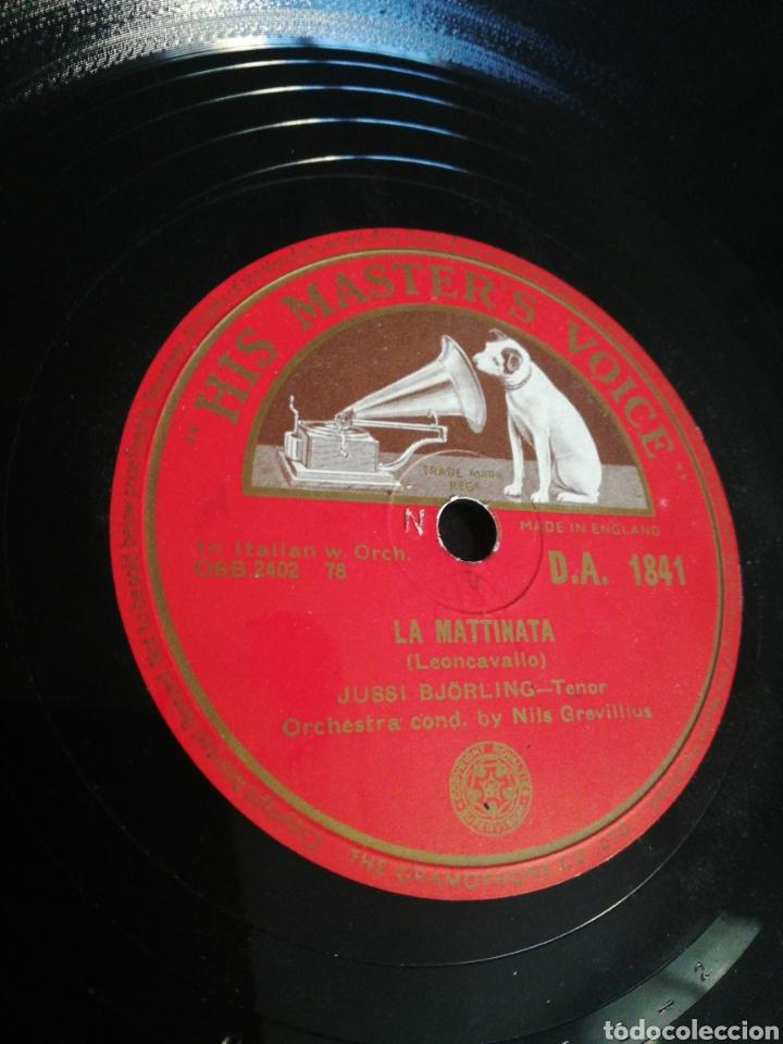 Discos de pizarra: Disco 78Rpm Jussi Bjórling - NESSUN DORMA / LA MATTINATA - Foto 3 - 277527193