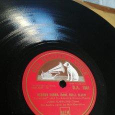 Discos de pizarra: DISCO 78RPM JUSSI BJÓRLING - NESSUN DORMA / LA MATTINATA. Lote 277527193