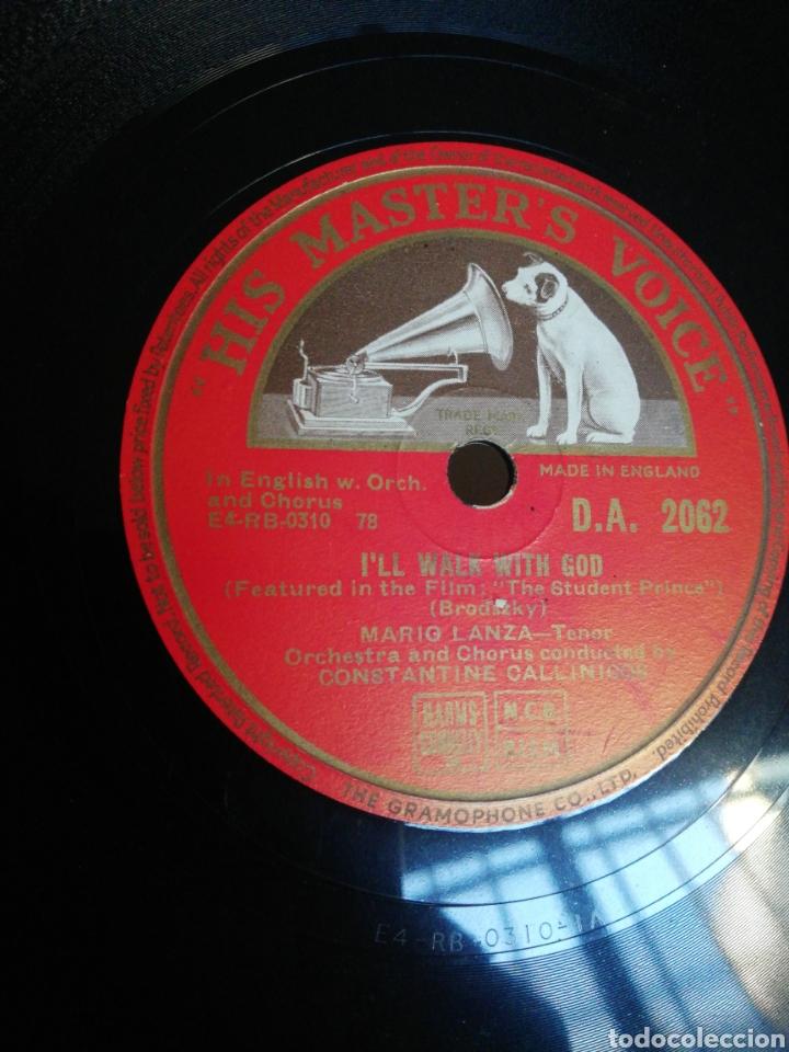 Discos de pizarra: Disco 78Rpm Mario Lanza- BELOVED / ILL WALK WITH GOD - Foto 2 - 277528838