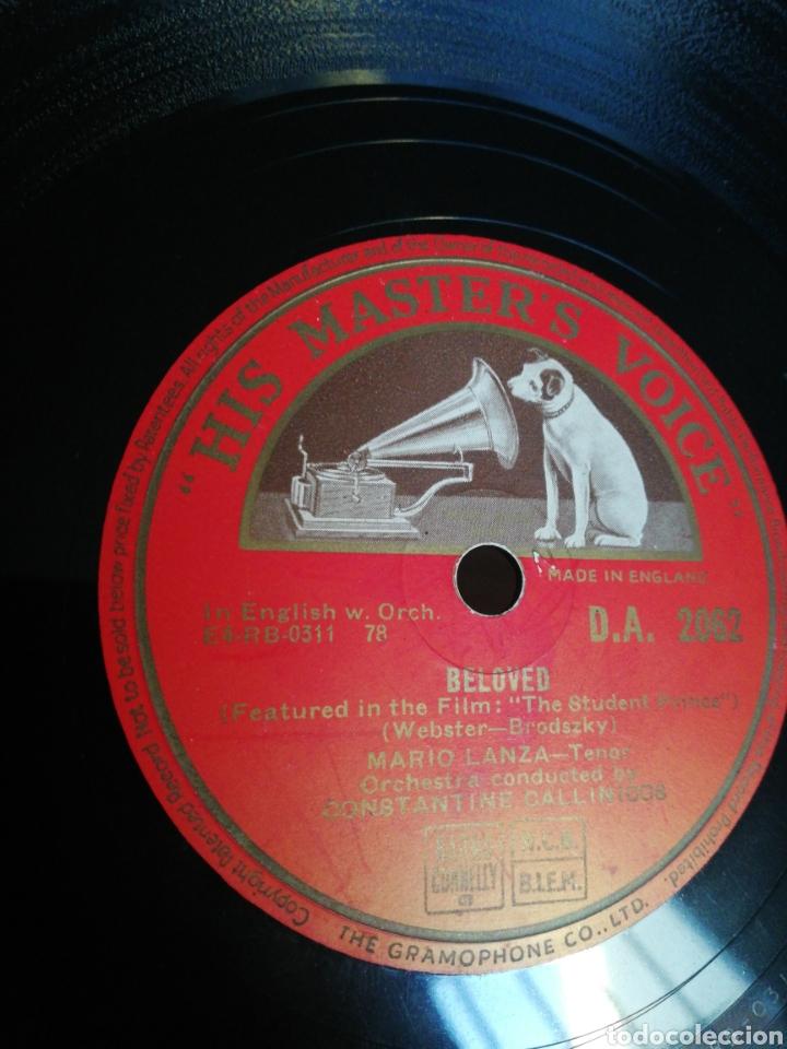 DISCO 78RPM MARIO LANZA- BELOVED / I'LL WALK WITH GOD (Música - Discos - Pizarra - Clásica, Ópera, Zarzuela y Marchas)