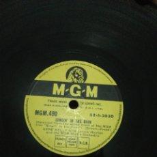 Discos de pizarra: DISCO 78RPM GENE KELLY- SINGIN IN THE RAIN(CANTANDO BAJO LA LLUVIA) ALL I DO IS DREAM OF YOU.. Lote 277536123