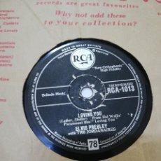 Discos de pizarra: DISCO 78RPM ELVIS PRESLEY - TEDDY BEAR / LOVING YOU. Lote 277700383