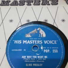 Discos de pizarra: DISCO 78RPM ELVIS PRESLEY LOVE ME TENDER / ANY WAY YOU WANT ME. Lote 277702598