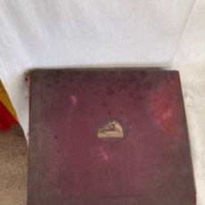 Discos de pizarra: ALBUM CON 12 DISCOS DE GRAMOFONO ANTIGUOS!. Lote 278354443