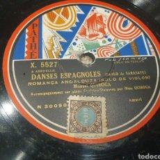 Discos de pizarra: 78 RPM SOLO VIOLIN MANUEL QUIROGA. Lote 278592573