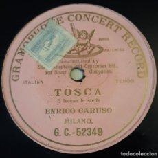 Discos de pizarra: PIZARRA. 78 RPM. GRAMOPHONE CONCERT RECORD G. C. - 52349. ENRICO CARUSO - E LUCEAN LE STELLE. Lote 279428168