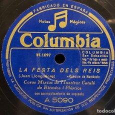 Discos de pizarra: COROS MIXTOS DE L'INSTITUT CATALÀ DE RÍTMICA I PLÀSTICA / COLUMBIA - 25 CMS / BUENA CALIDAD. LEER. Lote 279443143